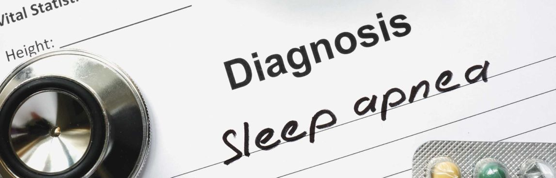 banner image with text diagnosis sleep apnea